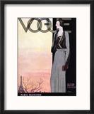 Vogue Cover - October 1930 Reproduction encadrée par Georges Lepape
