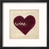 Wine in My Heart Reproduction encadrée par Morgan Yamada
