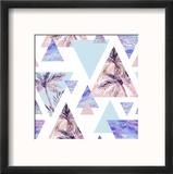 Abstract Summer Geometric Seamless Pattern Reproduction encadrée par Tanycya