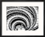 Escalier en colimaçon Reproduction encadrée par Andrea Costantini