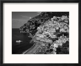 Amalfi Coast, Coastal View and Village, Positano, Campania, Italy Reproduction encadrée par Steve Vidler