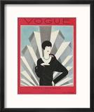 Vogue Cover - March 1927 Reproduction encadrée par Harriet Meserole
