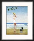 Vogue Cover - July 1937 - Beach Walk Reproduction encadrée par Eduardo Garcia Benito