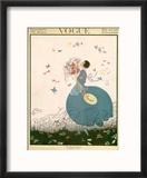 Vogue Cover - July 1916 Reproduction encadrée par Helen Dryden