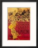 Puccini, la Bohème Reproduction encadrée par Adolfo Hohenstein