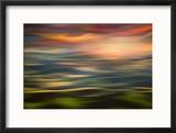 Rolling Hills at Sunset Copy Reproduction encadrée par Ursula Abresch