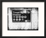 Subway Times Square - 42 Street Station - Subway Sign - Manhattan, New York City, USA Reproduction encadrée par Philippe Hugonnard