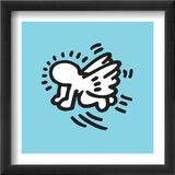 Flying Baby Reproduction encadrée par Keith Haring