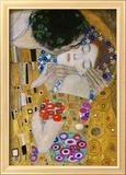 Le baiser, détail Reproduction encadrée par Gustav Klimt