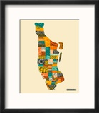 Manhattan Typographic Map
