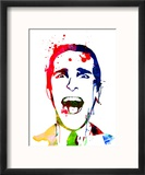 American Psycho Watercolor Reproduction encadrée par Lora Feldman