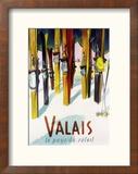 Valais, Switzerland - The Land of Sunshine Reproduction encadrée par Lantern Press
