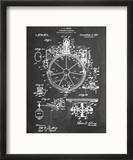 Compass Patent 1918 Reproduction encadrée