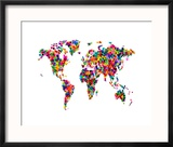 Love Hearts Map of the World