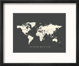 Black Map World
