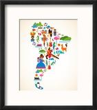 South America Love Reproduction encadrée par Marish