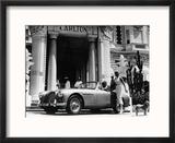 Aston Martin DB2-4 Outside the Hotel Carlton, Cannes, France, 1955 Reproduction encadrée
