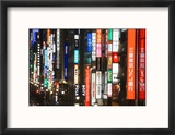Chuo-Dori, Elevated View at Dusk Along Tokyo's Most Exclusive Shopping Street Reproduction encadrée par Gavin Hellier