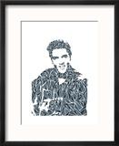 Elvis Presley Reproduction encadrée par Cristian Mielu