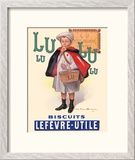Lu Biscuits - The Little Student (Le Petit Ecolier) - Lefèvre-Utile (LU) Reproduction giclée encadrée par Fermin Bouisset