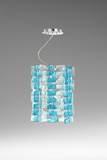 Turquoise Glass Links Pendant Lamp