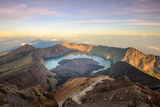 The Mt Rinjani Crater and a Shadow Cast from the Peak at Sunrise