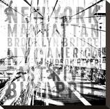 Nyc Brooklyn Bridge Typography No2