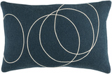 Solid Bold Lumbar Pillow Cover by Bobby Berk - Navy