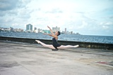 A Classic Ballerina from the Cuba National Ballet at the Malecon