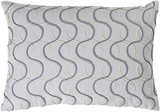 Solid Bold II Down Fill Lumbar Pillow by Bobby Berk - Slate Grey