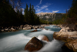 View of Kicking Horse River in Alberta  Canada