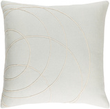 Solid Bold Pillow Cover by Bobby Berk - Silver