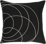 Solid Bold Pillow Cover by Bobby Berk - Black