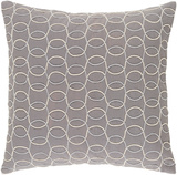 Solid Bold II Pillow Cover by Bobby Berk - Dove Grey
