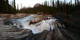 Natural Bridge over Kicking Horse River in Yoho National Park