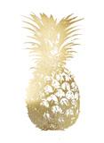 Gold Foil Pineapple I Reproduction d'art par Vision Studio