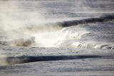Steam Rises Off the Warm Water Flowing Through a Yellowstone Valley