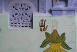 Handprints on a Wall in Jodhpur's Blue City