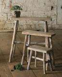 Rustic Pedestal Trio - Rectangle