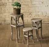 Rustic Pedestal Trio - Round