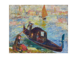 Gondel  Venedig 1881