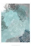 Ink Blot Mandala II Reproduction d'art par Grace Popp