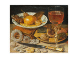 Still life with fruit  pastry and sweetmeat