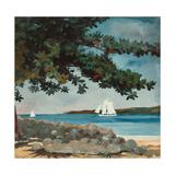 Nassau: Wasser und Segelboot (Nassau: Water and Sailboat) 1899