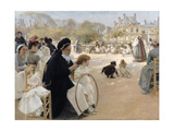 Jardin du Luxembourg (The Luxembourg Gardens)  Paris 1887