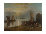 Sun rising through Vapour: Fishermen cleaning and selling Fish Before 1807