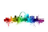 St Louis Missouri Skyline Papier Photo par Michael Tompsett