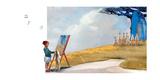 Painting with Meerkats Papier Photo par Nancy Tillman