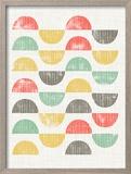 Mod Block Prints I Reproduction encadrée par Grace Popp