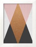 Geometric Pink Bronze Reproduction encadrée par LILA X LOLA